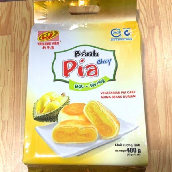 bánh pía chay đậu sầu riêng